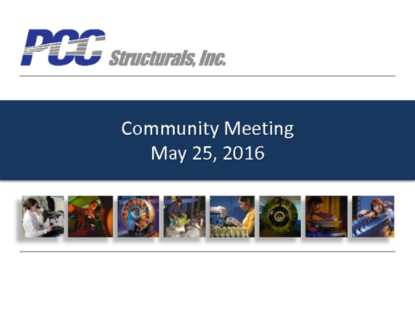 PCC Structurals Community Meeting Presentation